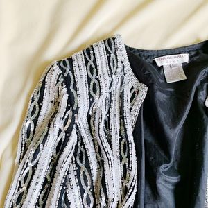 Adrianna Papell | Vintage Sequin Jacket